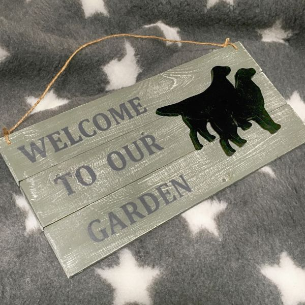 "Matdox Shabby ""Welcome to our Garden"" - Schild 1"