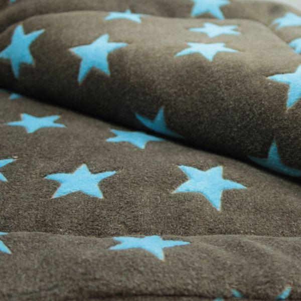 Matdox Montana Fleece Decke Stars Brauntürkis